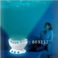 Free shipping ocean pot, Led Night Light Projector Ocean Daren Waves Projector Projection Lamp With Speaker dropshipping