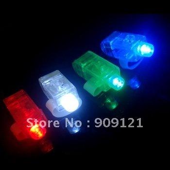 Wholesale ! Fantastic LED Finger Ring Light Include 4 Color Laser Beams Funny In Dark