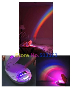 wholesale Christmas gift LED rainbow effect projector  Room Night Light 3 Display Mode free shipping