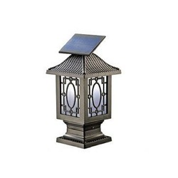 Solar Fence Post Lamp - 12-LED F5 Aluminum Light - SL-963(China (Mainland))
