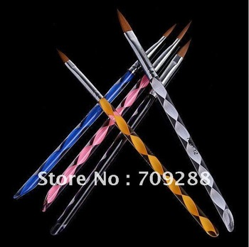 Freeship 5pcs/lot Manicure Professional Crystal Rod Phototherapy Pen Acrylic Nail Art Painting and carving Brush Set Nail Salon