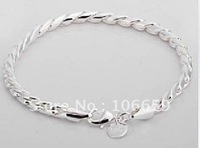 1pcs Twisted rope 925 Silver Bracelet Jewelry Christmas Gift Valentine's Day gift