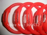 free shipping, Hot selling Anion Silicone Jelly Watch, opp bag packing