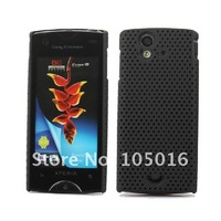 Free shipping 1pcs mesh hard Case Cover for SonyEricsson xperia Ray ST18i mobile phone