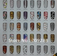 New Arrivals Product Freeshipping Nail art Nail Decoration Nail Foils Sticker 42 styles Nail Patch Metal 3D Nail Sticker
