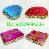 Wholesale 20 PCS multifarious silk cosmetic mirrors Free shipping Gift Hot sale