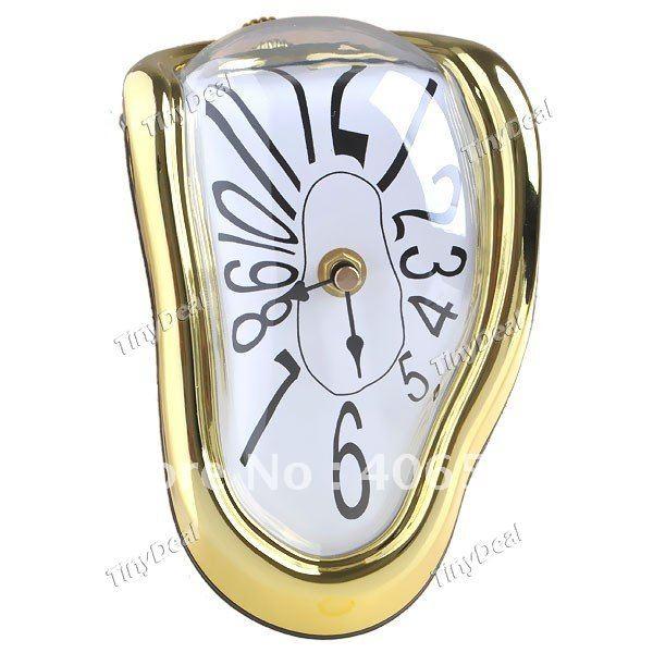 Flip Clock Novelty Desk Table Clocks For Home Decor  : Novel 90 Degrees Haven Shelf Sitter Clock Quartz Clock Dali Inspired Timepiece Home Decorator Assorted Color from mattressessale.eu size 600 x 600 jpeg 51kB