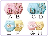 32pcs/lot 8 designs/Animal prints waterproof Learning cotton potty training pants/4 layers diaper pants/Baby underwear