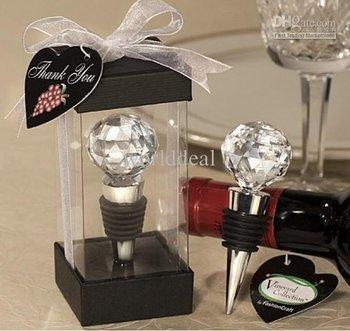 Crystal Ball Wine Bottle Plug for Wedding Gift/Bottle Stopper/2011 Hot party