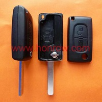 Peugeot 307 Blade 2 Buttons Flip Remote Key Blank &Key Shell