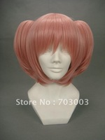 Freeshipping Magical Girl Pink Cosplay Wigs with tail