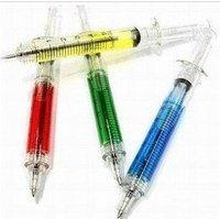 Free Shipping Strange creative new products,Realistic needles document/Syringe Ball Pen cy001