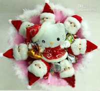 toy bouquet Christmas gift with santa claus decor