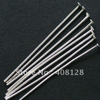 free ship! 2000pcs silver plated metal head pins 45mm