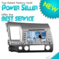 7'' digital panel Special car dvd player with DVD+AM/FM+SD/USB+IPOD+ Analog TV+BT+3D UI GPS DVB-T for HONDA CIVIC 2008