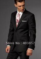 Black Suit Men Clothes Business Suits Custom Made Suits 2011 Fashion Men Suits Brand  MS0238