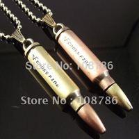 20pcs letter Bullet Necklace mens pendant stainless steel pendant fashion necklace stainless steel necklace wholesale cheap