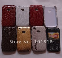 10pcs/lot&free shipping New Hard Back Skin Case Cover For BlackBerry Curve 8520 Croco style