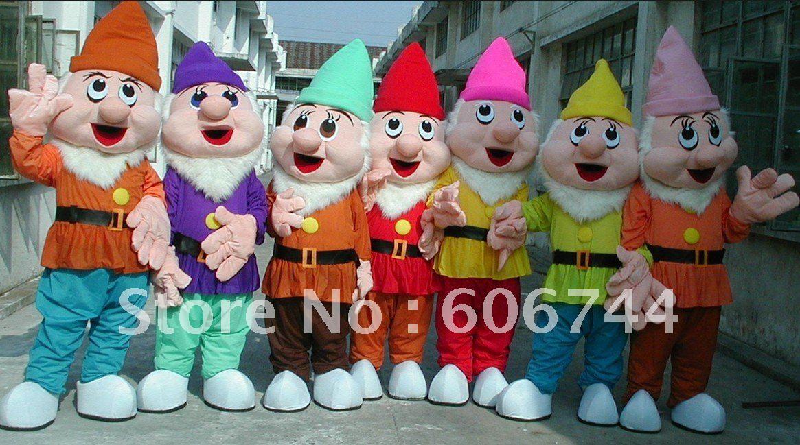 Wholesale Good Quality Adult Seven Dwarfs Mascot Costumes EMS Free Shipping(China (Mainland))