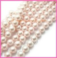 12MM light pink colour Round Loose crystal water Beads imitation pearls , 3 strands approx 200-210pcs/lot Free shipping