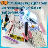 FULL SET MANICURE UV GEL + 9W NAIL UV LAMP DRYER 45#