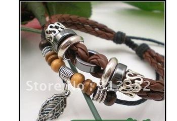 Fashion genuine leather bracelet free shipping