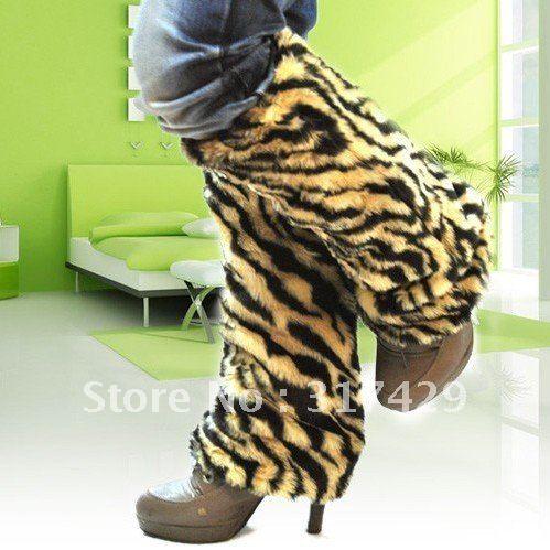 Vente en gros livraison gratuite/vente chaude!! L'europe et les usa- hérisson long imitation fourrure bottes ensemble/greaves( tigre jaune)