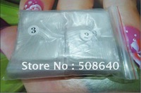 FreeShipping 500pcs/pack Clear French Tips Flase Nail Art Accessories For Finger Desgin