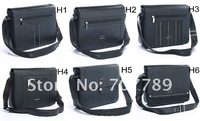 hot sale new style men shoulder bags PU leather handbags 10pcs Wholesale 6 select free shipping