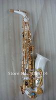 white saxophone