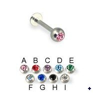 Labret Ring Lip Piercing Labret Bar 316L Surgical Steel Earring Stud Body Jewelry 30pcs/lot Free Shipping 16G 5colors