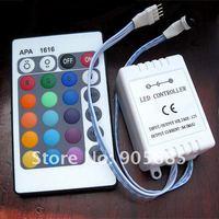 24-key Wireless RGB LED Light Bulb Infrared IR Remote Controller (1*CR2025) + (DC 12V) LED controller