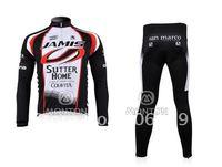 New 2010 Jamis black Winter Thermal Fleece Long Sleeve Cycling Jersey+Pants/Cycling Wear/Cycling Clothing/Bike Jersey