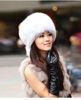 (#11-VC0202)free shipping fashion women's/lady's white fox fur hat/real fur hood/fox fur hat/wholesale