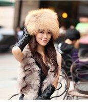 (#11-VC0204)free shipping fashion women's/lady's Red Fox fur hat/real fur hood/fox fur hat/wholesale