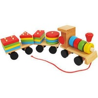 free shipping,Colorful building block train, educational wooden toy, disassembling the train,Early Learning  toys