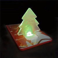Free shipping 100X LED Christmas Tree light Christmas light Folding Card Night Lamp XMAS GIFT 489