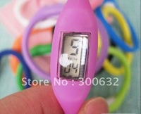 free shipping, high quality ion Silicone Band Watch, opp bag packing