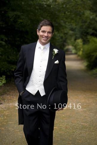 Free shipping 2012 customized black wedding suits tuxedos