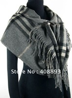 Brand NEW 185cmx70cm ladies 100% Wool shawl scarf  Fashion leopard shawl scarf BUWOSH-Grey216