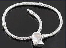 Free Shipping Snake Chain Bracelets fit European Bead 925 Silver Clasp Biagi Bracelet 16cm-23cm(China (Mainland))