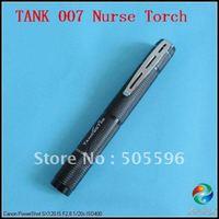 Free Shipping, TANK007 E06-B 1W HAIII Aluminum Nurse Flashlight/Torch With 2*AAA and Clip