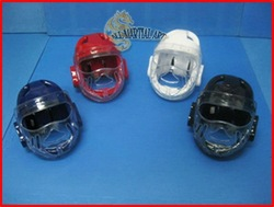 Free Shipping TKD / MMA / Wing Chun Dipped Foam Headgear Guard Protector with Face Shield (PG009) !!(China (Mainland))