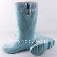 Wholesale boots free shipping The new light green rain boots fashion rain boots women