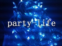 Blue 100 Cone-Shaped LED 33 Feet Christmas Xmas Holiday Garden Party String Light,Christmas led light,50pcs/lot, free shipping