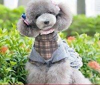 10pcs/lots 2011 new styleMedium-sized dog KO&JIMA your  Taidi  cloth England winter school uniform skirt pet clothes