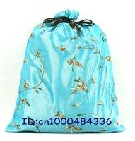 Top list shoes bags Cheap 2013 China fashion gift bag 20 pcs mix Free Silk Embroidered Drawstring shoe bag