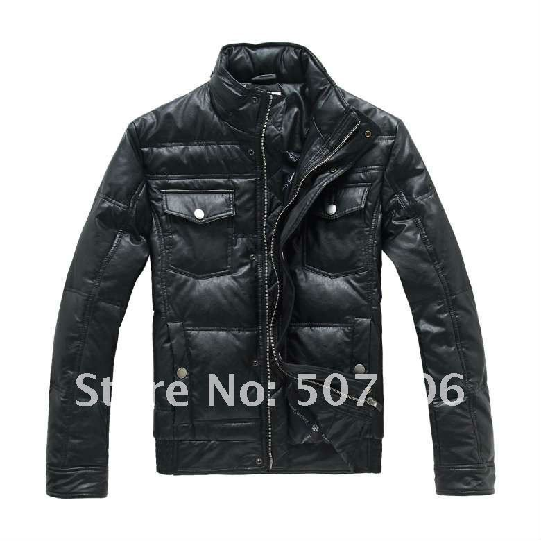 Hot selling, Fashion Design Duck Down Jacket, New Style Man Down Coat, Free China Post Shipping(China (Mainland))