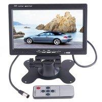 """Car Monitor 7"""" Color TFT LCD Car Rearview Camera DVD Camera VCR Car camera Car video free shipping"""
