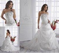 WH072 dropshipping New style sexy wholesale sleeveless wedding dress